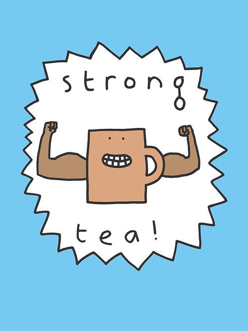 "Mr Scruff ""Strong Tea"" Signed A3 Print (Blue)"