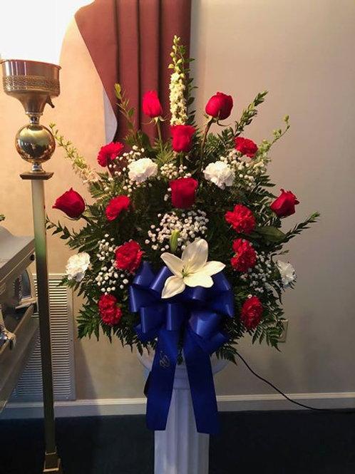 Rose Carnation and Lily Sympathy Basket