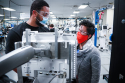 Productions associates volunteering on the R860 Production Line at Madison, WI.