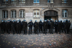 Firm but fair - impressed by French police.