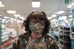 A union worker on the R860 Ventilator Production Line that was making her own masks.