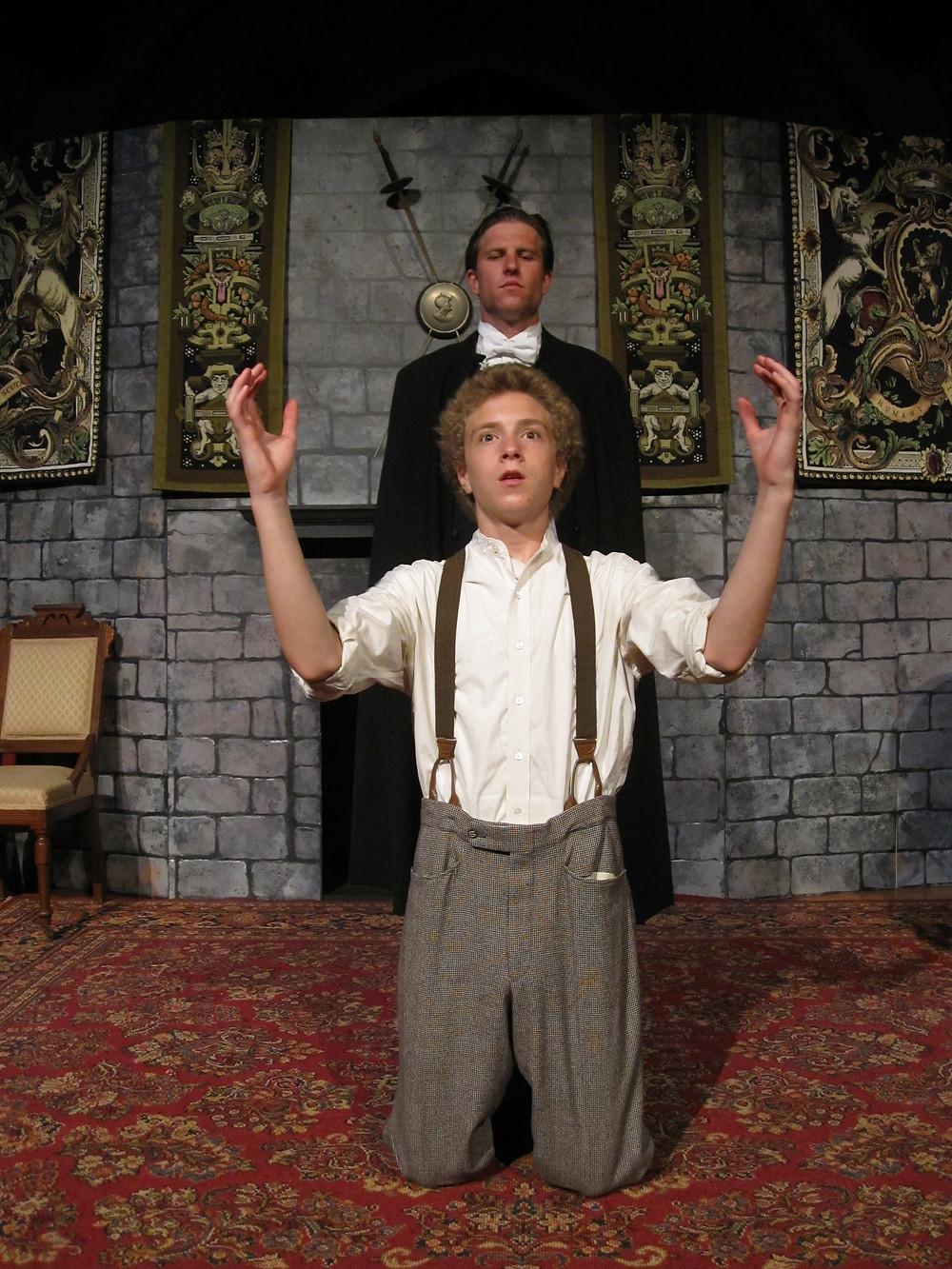 "Evan Smilyk and Samuel Douglas Clark in this season's ""Dracula."" Photo credit: Gayle Stahlhuth"