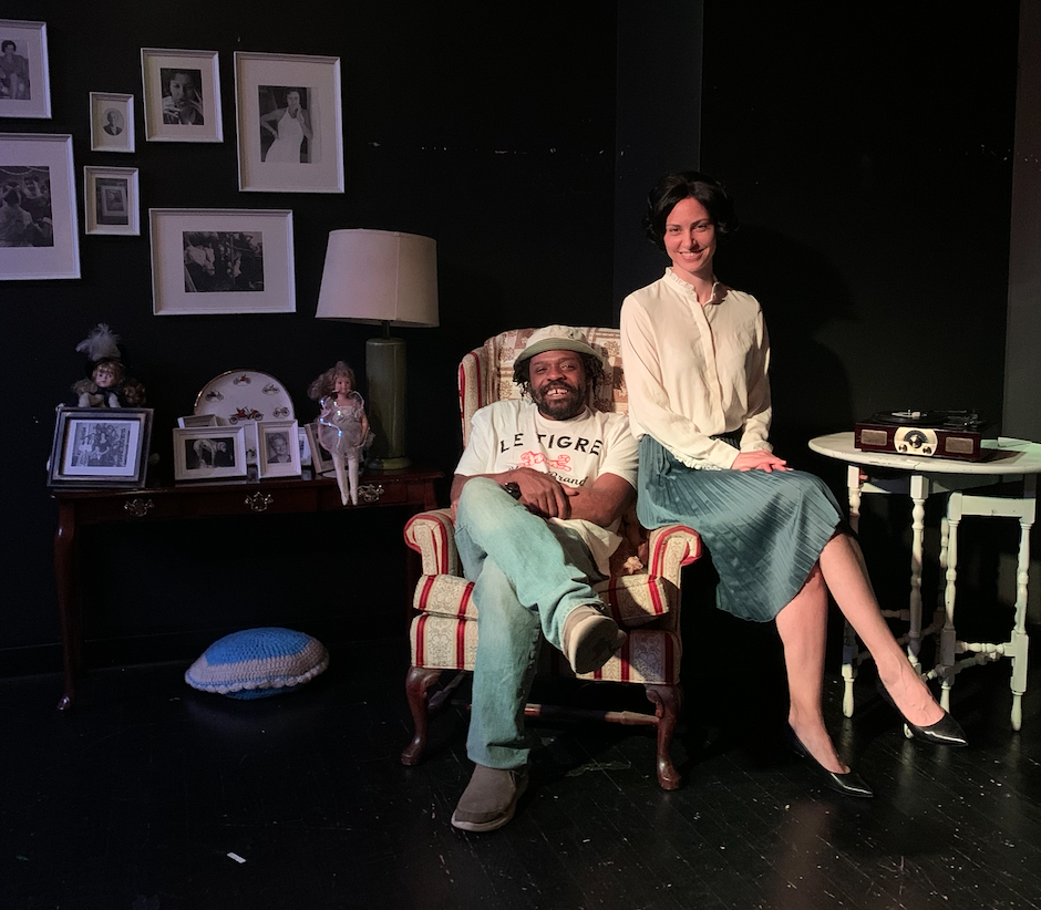 Carl Ford and Ruya Koman on the set of her Kind. Photo Credit: Proverbs Taylor