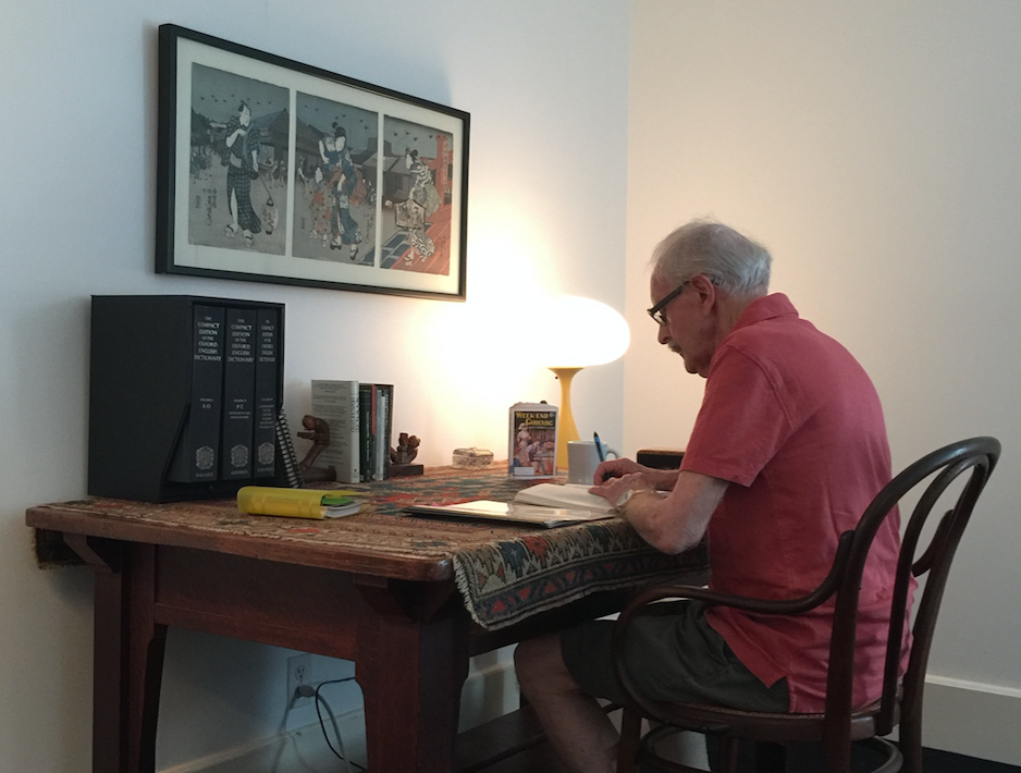 The playwright at home