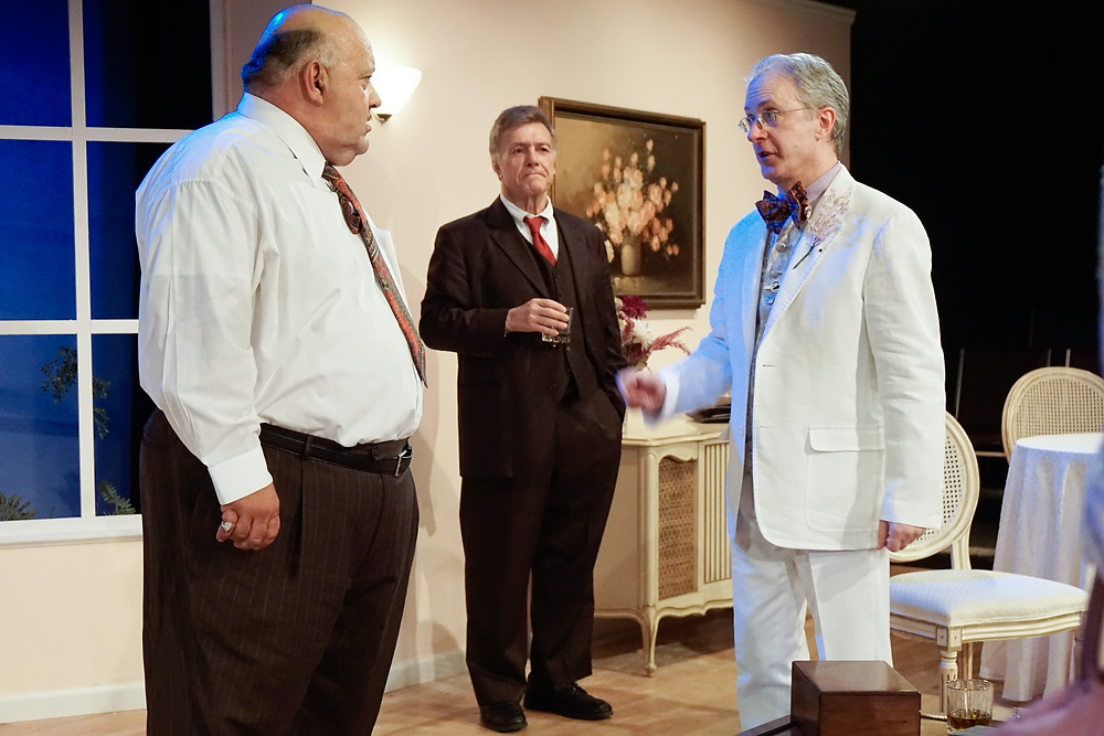 Harry Brock (L), his Lawyer, Ed Devery (C), and Senator Hedges