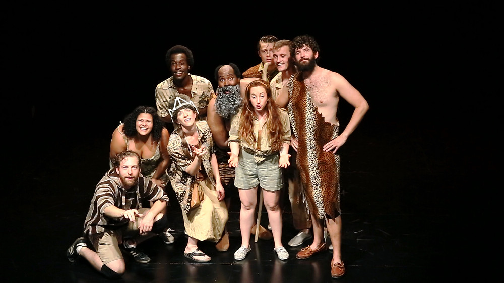 The Cast of Me Prometheus at The Hudson Guild. Photo by Liz Maney