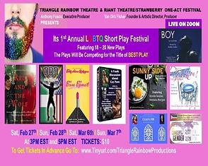 LGBTQ Short Play Festival - POSTER - Fin