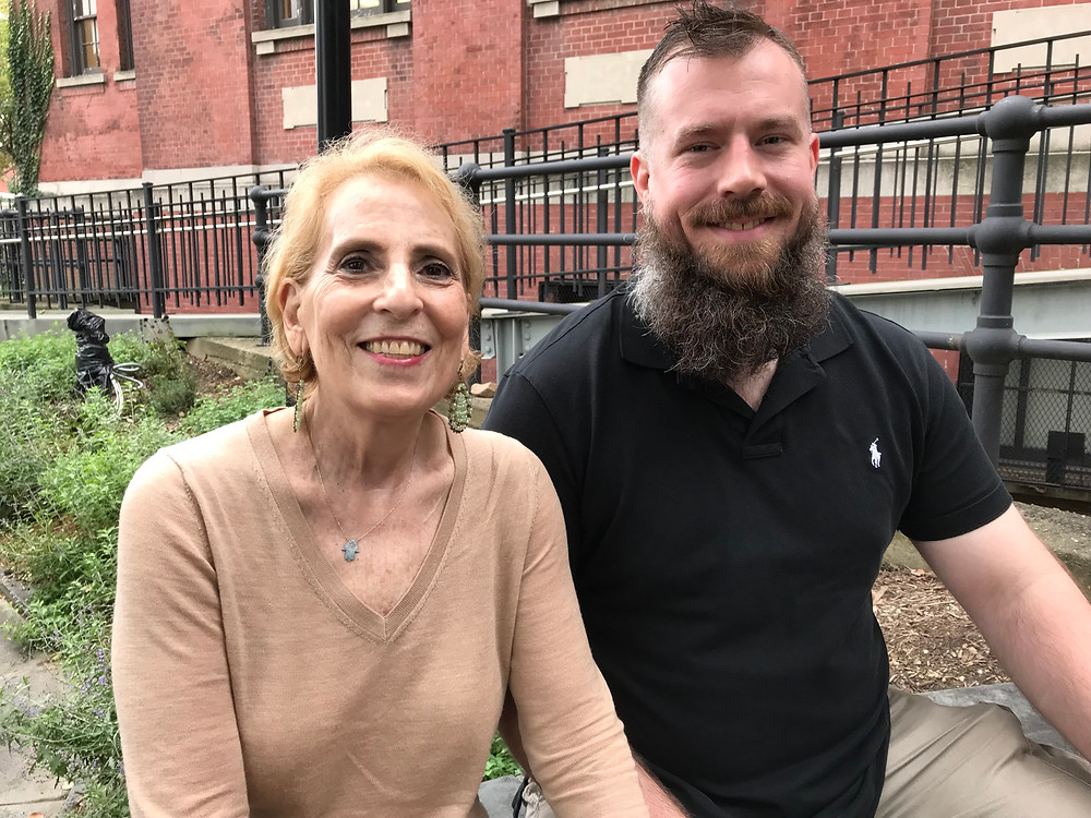 Playwright Barbara Garshman with Matthew Deese, Assistant Producer /Former Corporal, USMC