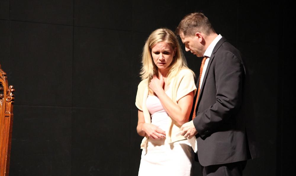 """Karen Forte and Robert Tekavec in """"Bluff"""""""
