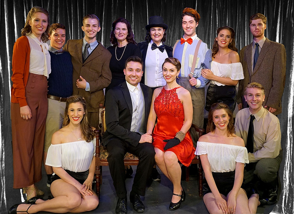 Cast Photo of Lili Marlene The Musical, Clint Hromsco (center left) and Amy Londyn (center right)