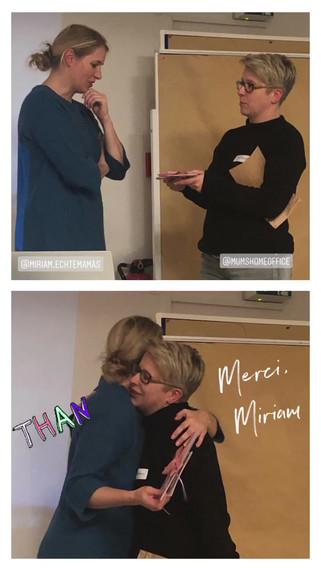 Von denen lernen, die wissen wie es geht: Miriam Wiederer von Echte Mamas hat uns wunderbare Einblicke hinter die SocialMedia Kulisse gezeigt und aus dem Nähkästchen geplaudert. Oh, was für ein toller Abend!