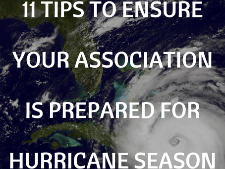 11 Tips to Ensure Your Community Association is Prepared for Hurricane Season