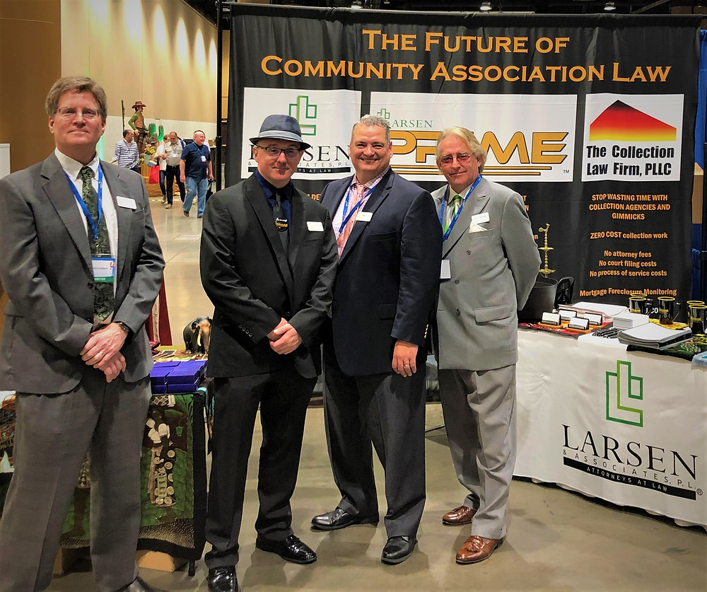 Attorney Charles Eldredge, Business Development Director Mark King, Attorney Kico Diaz, and Senior Paralegal Paul Smith presented the future of community association law at CA Day 2019