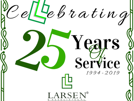 Larsen Celebrates 25 Years of Service to Community Associations