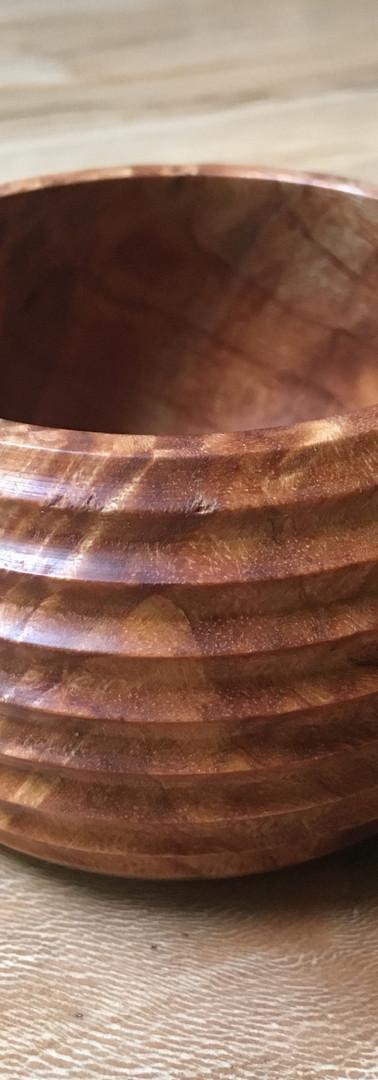 Ridged burl Bowl