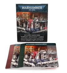 Battlezone: Manufactorum - Terrain Datasheet Cards (WT)