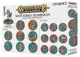 Age of Sigmar: Shattered Dominion 25 & 32mm Round Bases (WT)