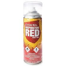 Spray Paints: Mephiston Red (WT)
