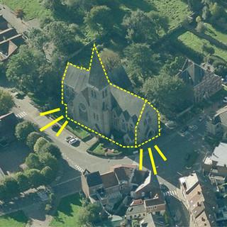 Beersel - Kerk en pastorie van Lot