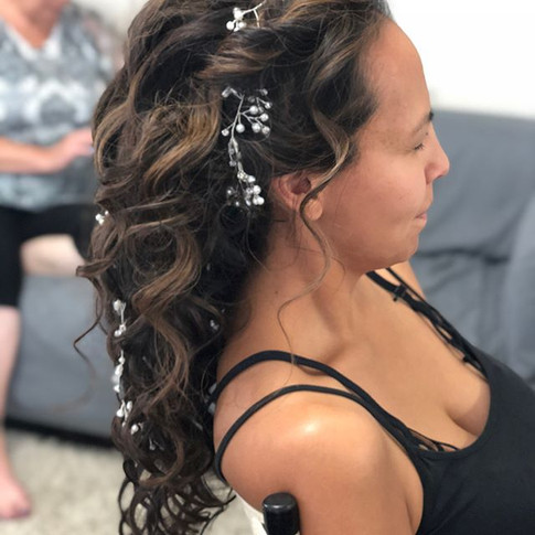 This beautiful bride just about ready fo