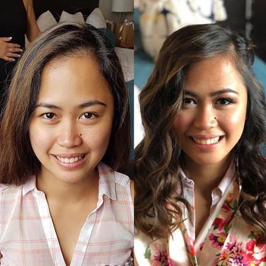 Beautiful bridesmaid all hair & makeup r