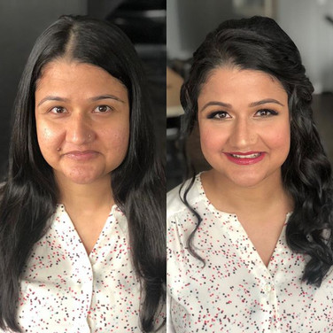 Before and after looks!  All ready to he