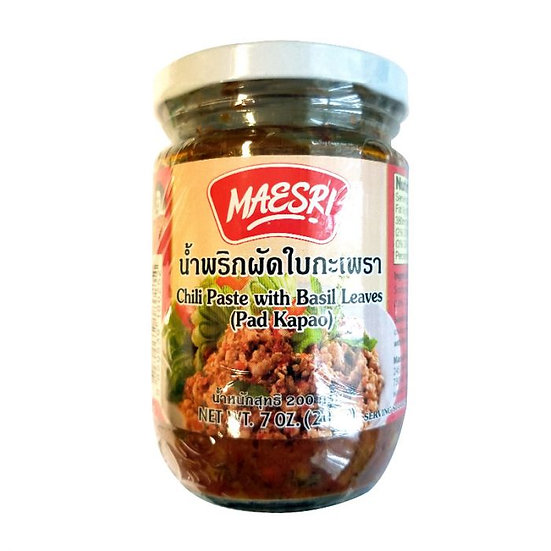MAESRI Chilli Paste With Basil Leaves (Pad Kapao) 200g