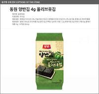Seaweed Roasted Nori Laver Olive-oil Kim/Gim 10sheets x 3 packs