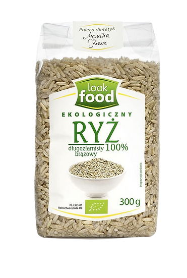 Organic long grain brown rice 100% 300g