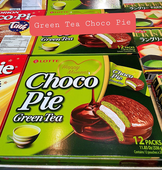 Lotte Choco Pie Green Tea flavour 12 pcs