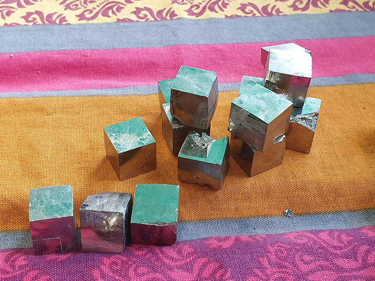 Natural Pyrite Cube