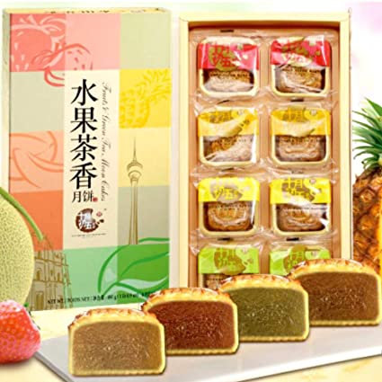 Oct 5th Green Tea and Fruits Moon Cakes x 8 (480g)