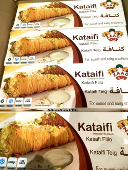 Kataifi threaded pastry