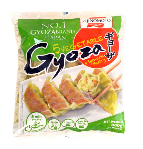 Ajinomoto Vegetable Dumpling with Spinach Pastry (Gyoza) 600G