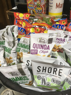 Various Snacks incl. Seaweed puffs