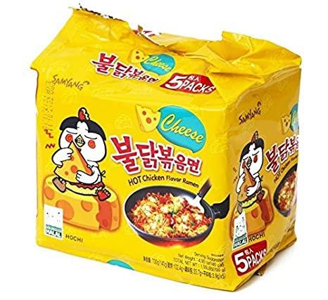 SAMYANG Cheese Hot Chicken Flavor Ramen 140g x 5 packs
