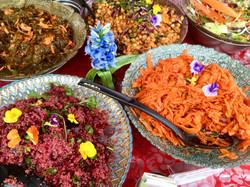 Various home made salads