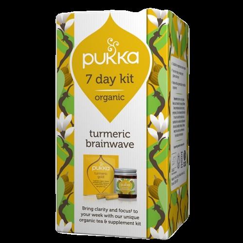 Pukka Tea Turmeric Brainwave 7 Day Kit