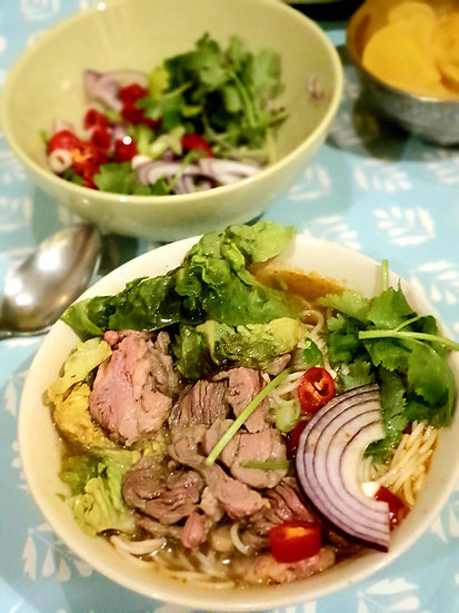 Vietnamese Pho Bo - Beef And Rice Noodle in Vietnamese soup