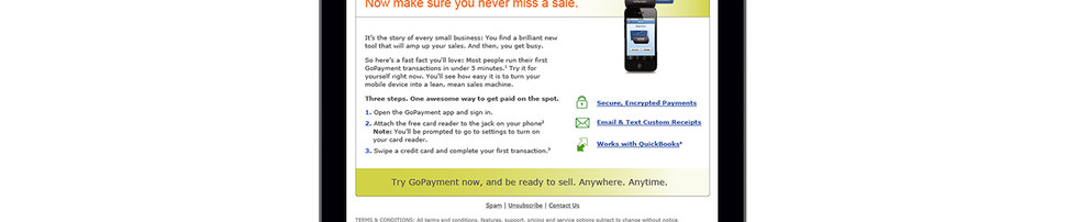 Intuit Payment Solution Email