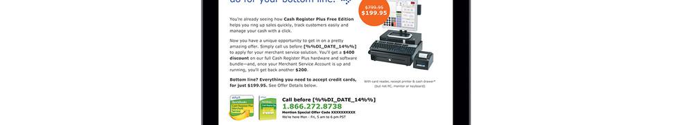Intuit Cash Register Plus Email