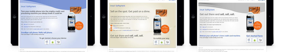 Intuit Go Payment Landing Pages