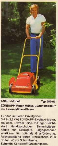 ZÜNDAPP-Motor-Mäher 1-Stern-Modell Typ 6