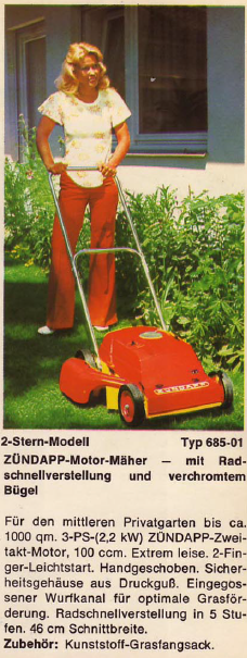 ZÜNDAPP-Motor-Mäher 2-Stern-Modell Typ 6