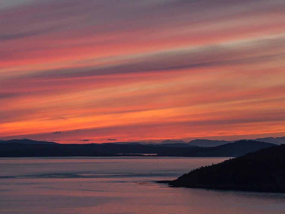 Sunset over San Juan Islands