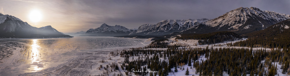 Bird's Eye View, Abraham Lake