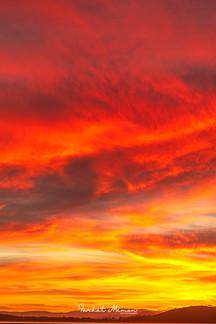 Fiery Sunset, Tasmania