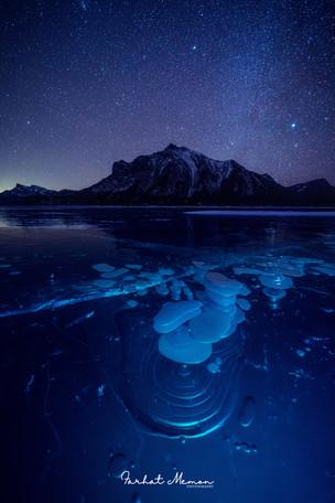 Starry Night at Abraham Lake