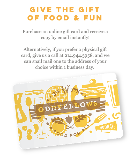 Oddfellows gift card
