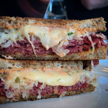 How about a hot, griddled Reuben for lun